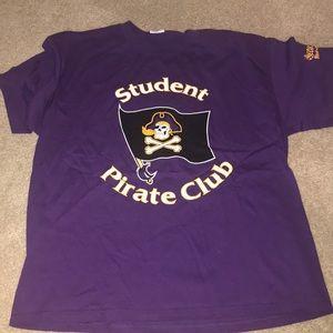 NWOT Purple East Carolina T-Shirt